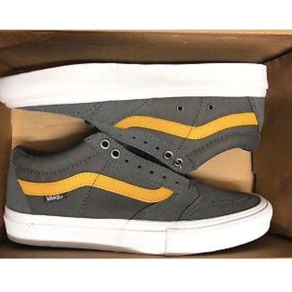 6b9fa17c1e4 Vans TNT SG Pewter Grey Sunflower Yellow Shoes
